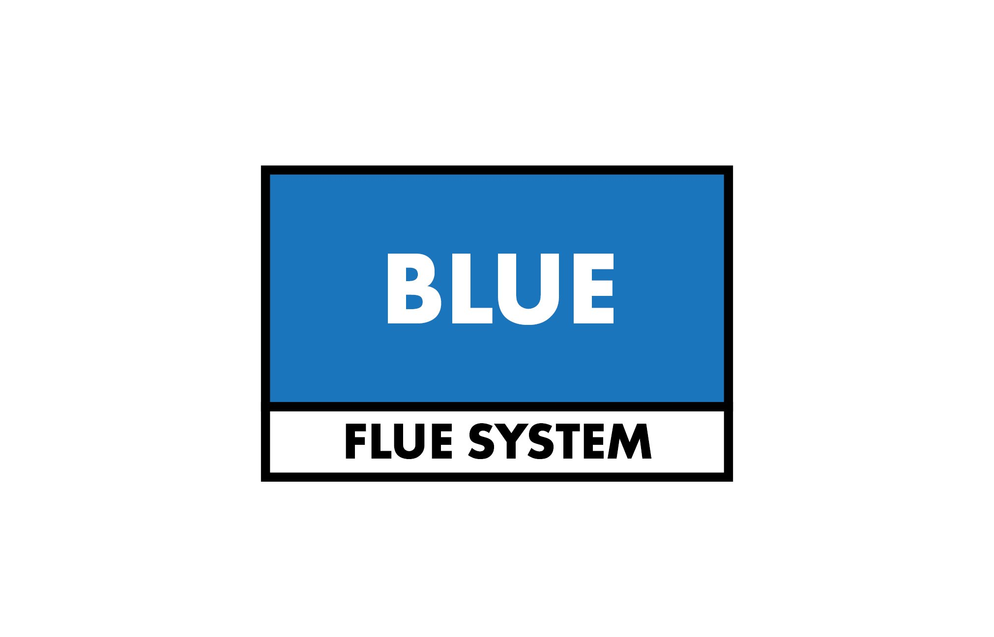 EZ Fit Blue Single Wall Flue Kit