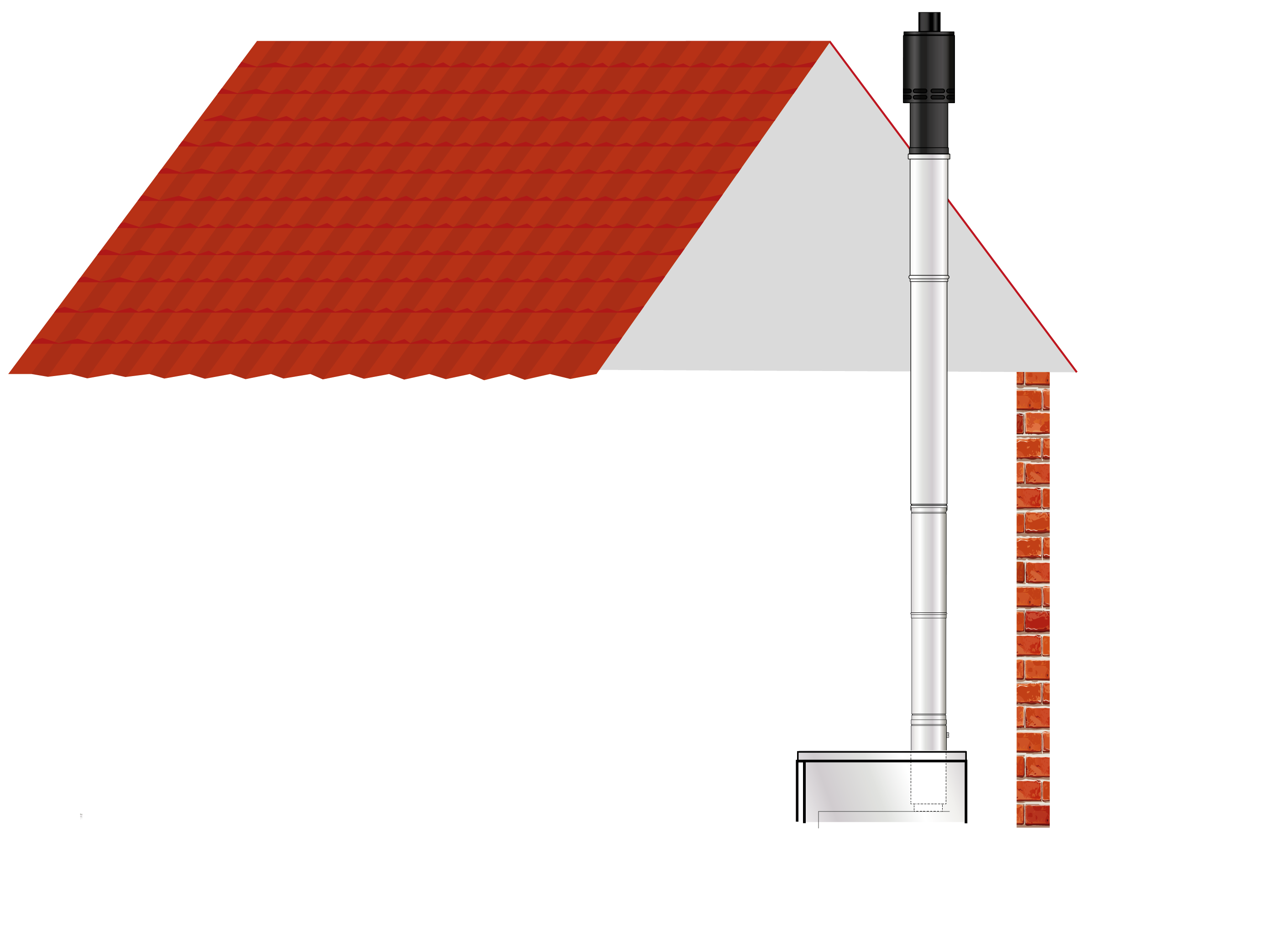 EZ Fit Flue Internal Vertical Balanced Flue (White System)