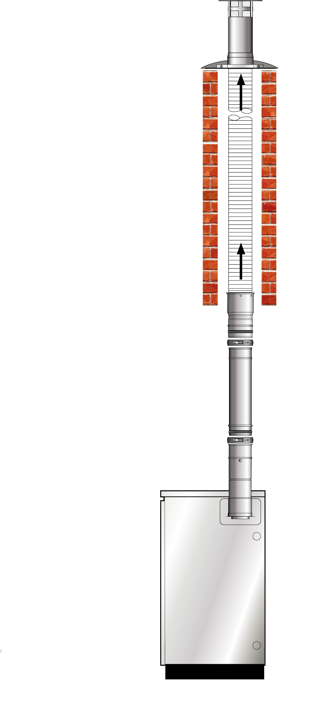 EZ Fit Vertical Conventional Flue (Orange System)