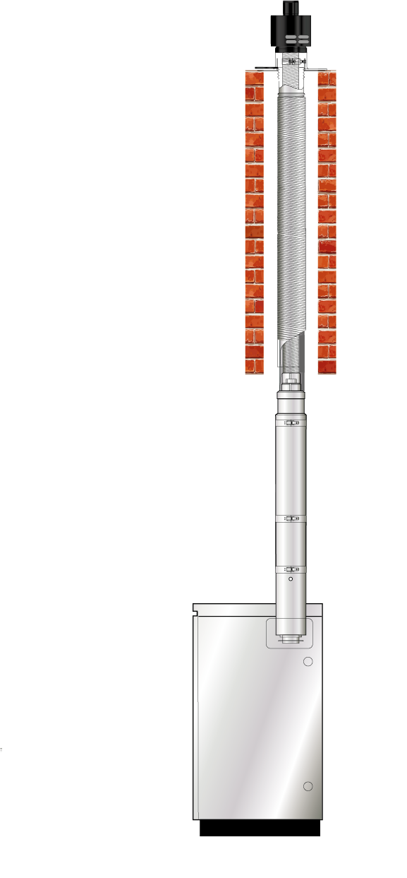EZ Fit Flexible Vertical Balanced Flue (Red system)