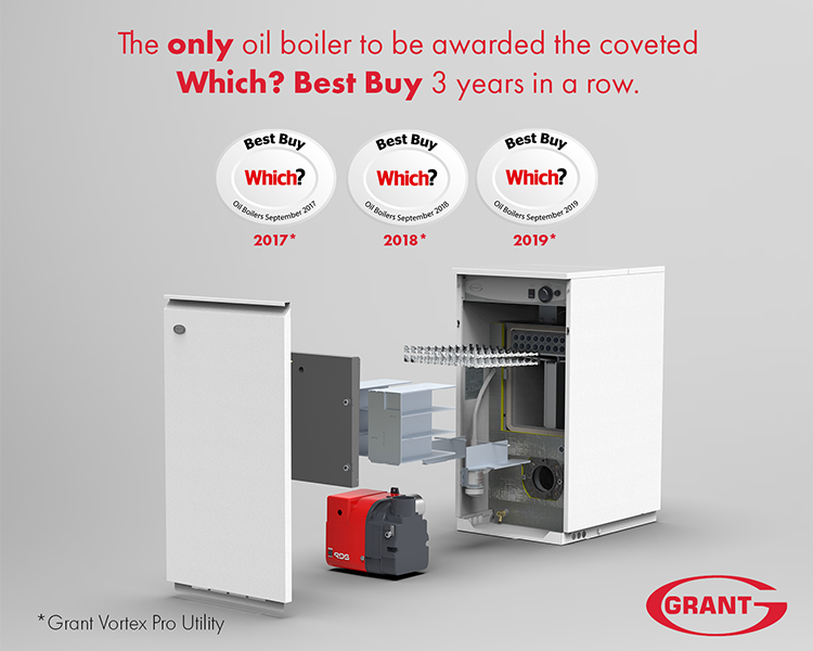 The only oil boiler manufacturer to achieve Which? Best Buys for three years running